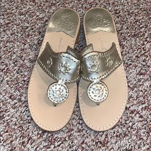 Jack Rodgers Metallic Gold Sandals